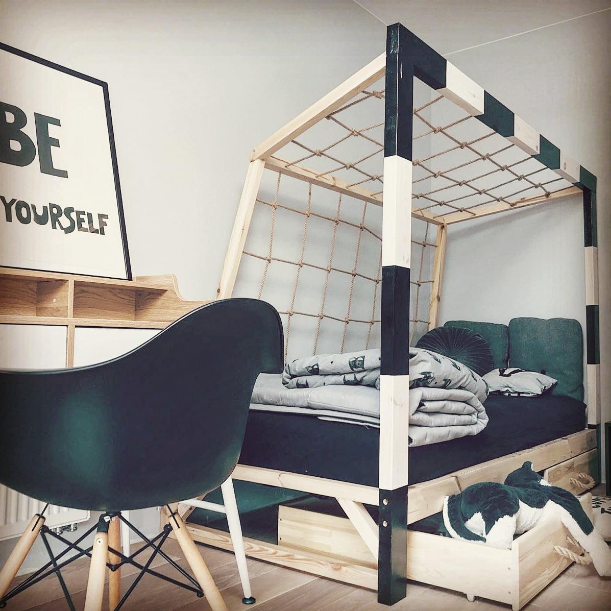 łóżko Piłkarskie Bramka Piłkarska Dla Nastolatka Domek W